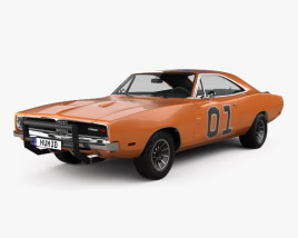 3D model of Dodge Charger General Lee 1969