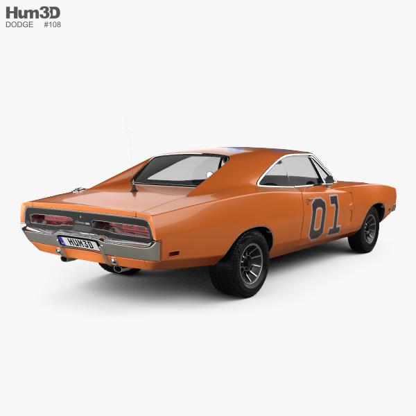 Dodge Charger General Lee 1969 3D model