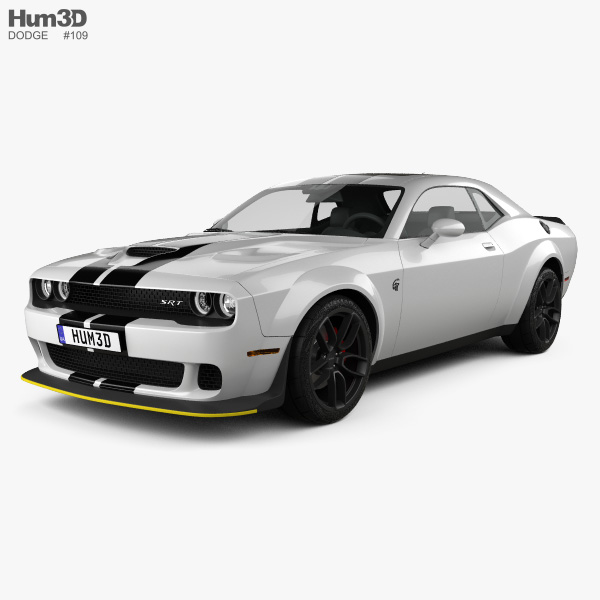 3D model of Dodge Challenger SRT Hellcat Wide Body 2018