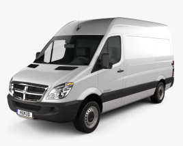 3D model of Dodge Sprinter 2500 Panel Van L1H2 2006