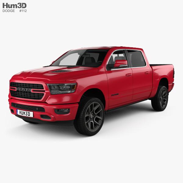 Dodge Ram 1500 Crew Cab Sport 5-foot 7-inch Box 2019 3D model