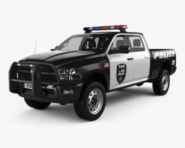 Dodge Ram Crew Cab 警察 带内饰 2016 3D模型