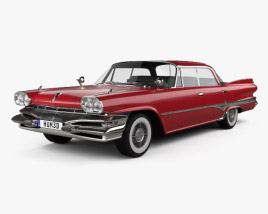 3D model of Dodge Dart Phoenix Hardtop Sedan 1960