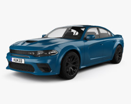 3D model of Dodge Charger SRT Hellcat Wide body 2020