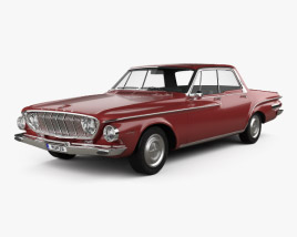3D model of Dodge Dart 440 hardtop sedan 1962