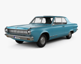 3D model of Dodge Dart GT hardtop coupe 1965