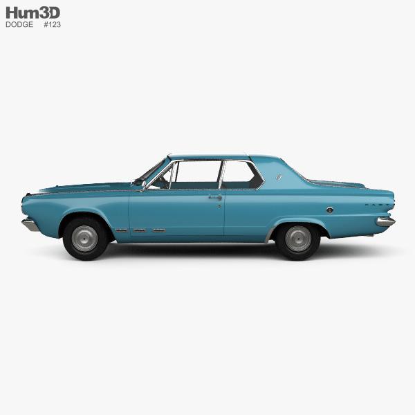 Dodge Dart GT hardtop coupe 1965 3D model