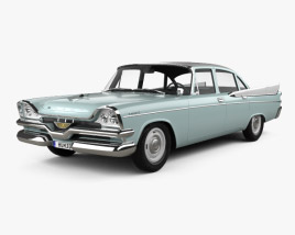 3D model of Dodge Coronet 4-door sedan 1957