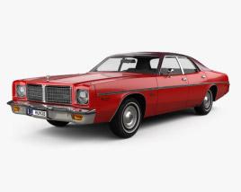 3D model of Dodge Coronet sedan 1975