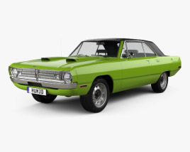3D model of Dodge Dart Swinger convertible 1970