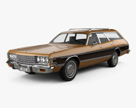 3D model of Dodge Coronet station wagon 1974