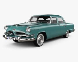 Dodge Coronet 4-door sedan 1955 3D model