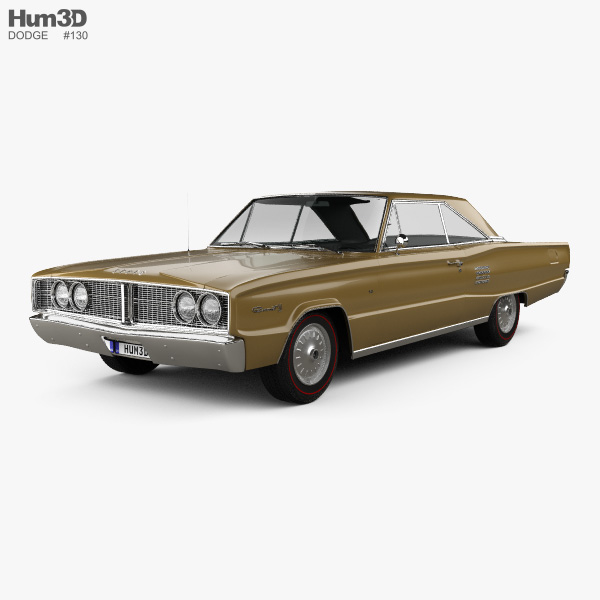 3D model of Dodge Coronet 500 hardtop 2-door 1966