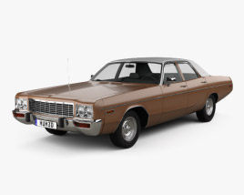3D model of Dodge Polara Custom sedan 1973