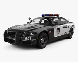3D model of Dodge Charger Police with HQ interior 2015