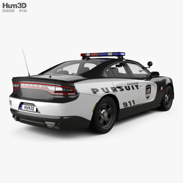 Dodge Charger Police with HQ interior 2015 3D model