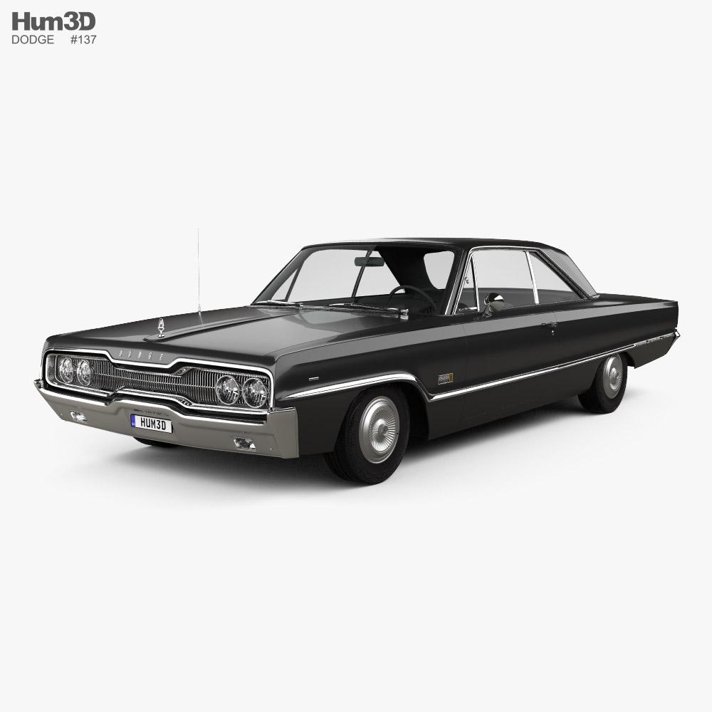 Dodge Polara 2-door hardtop 1966 3D model