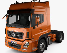 3D model of Dongfeng Denon Tractor Truck 2012