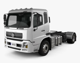 3D model of Dongfeng KR Chassis Truck 2014