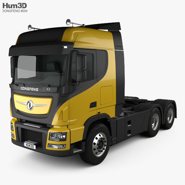 Dongfeng KX Tractor Truck 2014 3D model