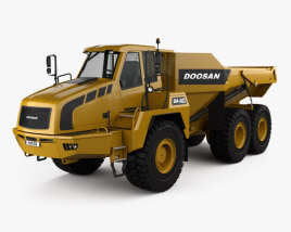 3D model of Doosan DA40 Dump Truck 2011