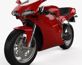 3D model of Ducati 748 Sport Bike 2004
