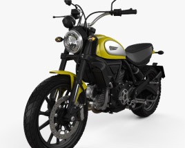 3D model of Ducati Scrambler Icon 2015