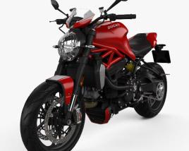 Ducati Monster 1200 R 2016 3D model