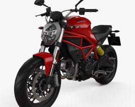3D model of Ducati Monster 797 2018