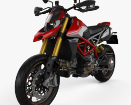 3D model of Ducati Hypermotard 950SP 2019