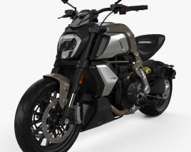 3D model of Ducati Diavel 1260 2019