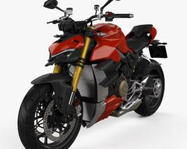 3D model of Ducati Streetfighter V4 2020