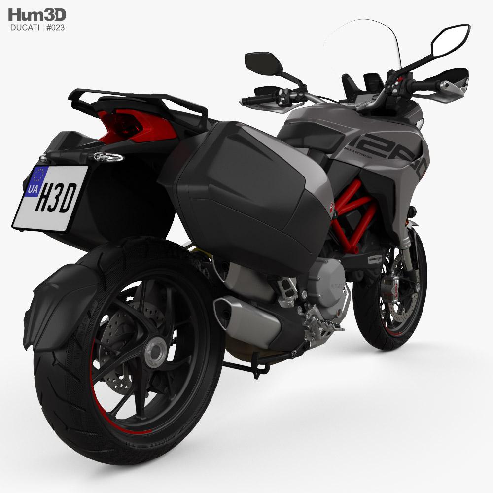Ducati Multistrada 1260S GrandTour 2020 3d model back view