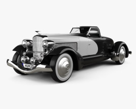 3D model of Duesenberg SJ Boattail Speedster 1933