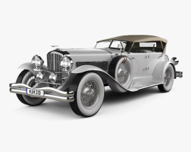 3D model of Duesenberg SJ Phaeton LWB LaGrande 1935