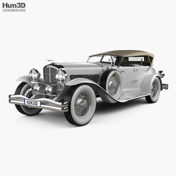 3D model of Duesenberg SJ Phaeton LWB LaGrande 1935