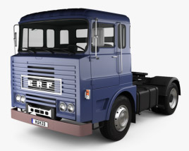 3D model of ERF MW 64G Tractor Truck 1973