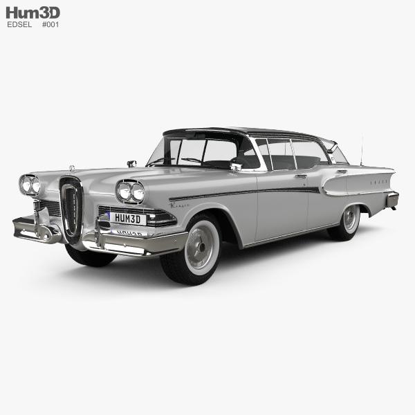 Edsel Ranger sedan 1958 3D model