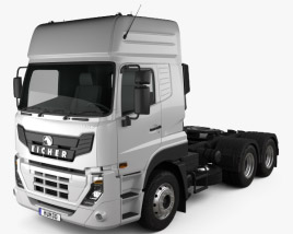 3D model of Eicher Pro 8049 Heavy Duty Tractor Truck 2014