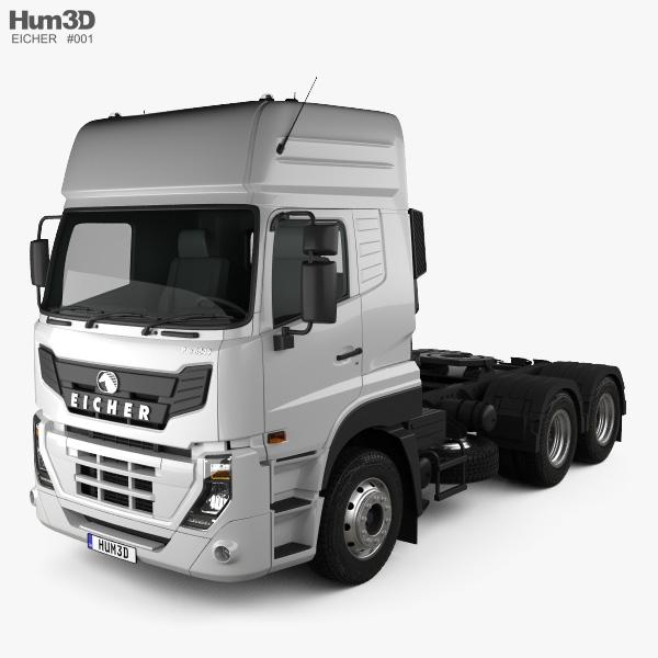 Eicher Pro 8049 Heavy Duty Camion Trattore 2014 Modello 3D