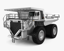 3D model of Euclid R260 Dump Truck 1996