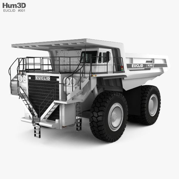 3D model of Euclid R260 Dump Truck 1996