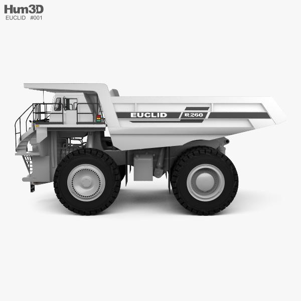Euclid R260 Dump Truck 1996 3D model