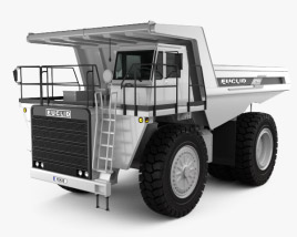 3D model of Euclid R90 Dump Truck 1997