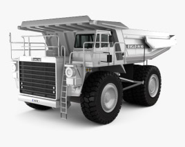 3D model of Euclid R130 Dump Truck 1991