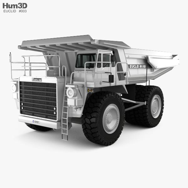 3D model of Euclid R130 Dump Truck 1991