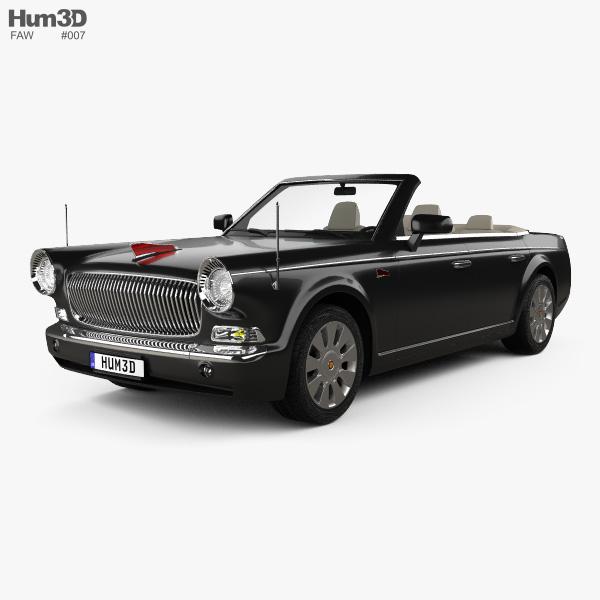 3D model of FAW Hongqi L5 cabriolet 2015