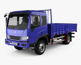 3D model of FAW J5K Flatbed Truck 2011
