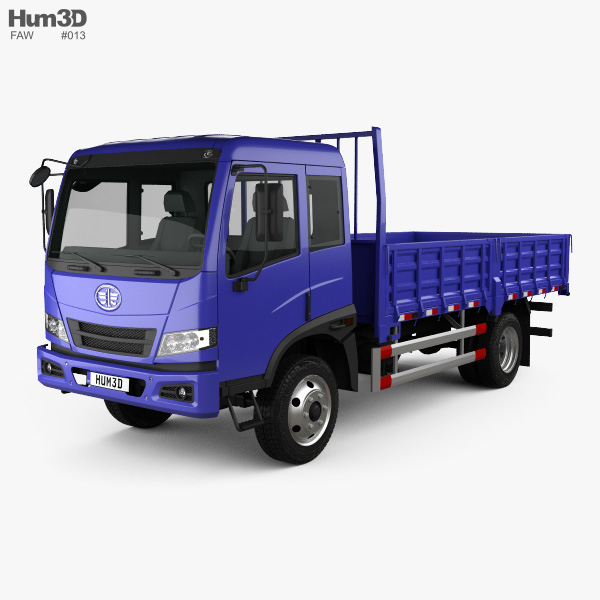 FAW J5K Flatbed Truck 2011 3D model