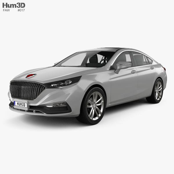 3D model of FAW Hongqi H5 2018